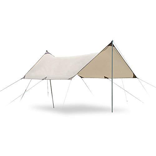 QWEA Beach Tent Pop up, Sunshade Beach Tent, Sun Shade with Carry Bag Tarp Waterproof Tent Tarp Shelter Beach Tent Umbrella Lightweight Camping Tarp Shade for Picnic Hiking Outdoors
