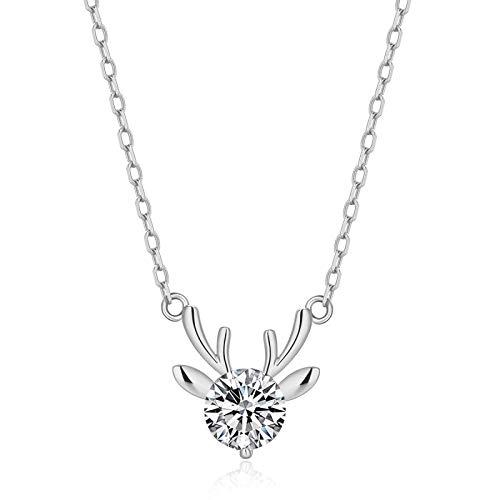 RQQ Collar de Diamantes. Collar de Dama Plateada. Platinum
