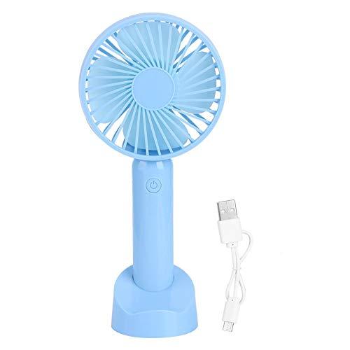 Ventilador Compacto, Abs + Componentes electrónicos Mini Mesa de Mano Ventilador de enfriamiento de Doble Uso, para Estudio al Aire Libre Viajes en Interiores