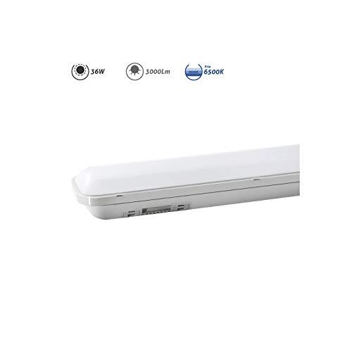 Regleta estanca LED IP65 36w 3000 lumens 6.500k luz fria EDM