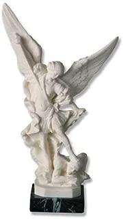 Saint Michael 9, Santini Italian Carrera Marble Sculpture
