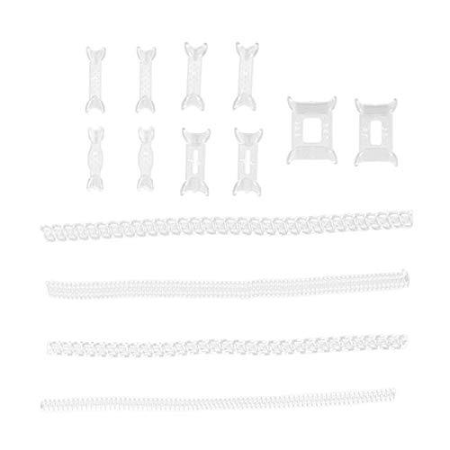 F Fityle Set di 14 da Sposa Invisibile Anello Formato Riduttore Regolatore per Allentato Anello, Materiale TPU Morbido, Mantenere Anelli Sicuro