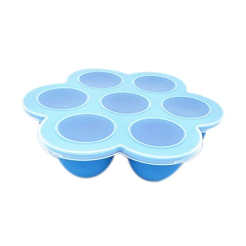 teng hong hui 7 Bandeja de mordeduras de Huevo de Silicona Copa Alimentación Infantil Moldes Alimentos Bandejas los Alimentos para niños Congelador bandejas Reutilizable Contenedor de Almacenamiento