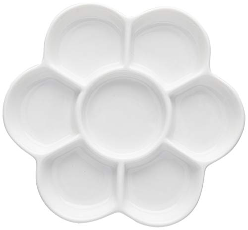 Easyou Porcelain Ceramic Palette Bone China Mixing Tray (Flower Mixing Palette 5.6'/14.5cm)
