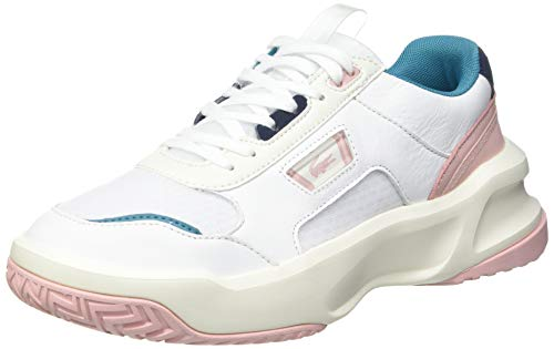 Lacoste Sport Ace Lift 0721 2 SFA, Zapatillas Mujer, Wht/Lt Pnk, 38 EU