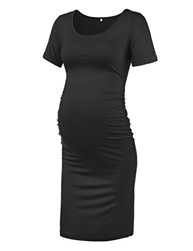 KIM S Maternity Bodycon Dress for Daily Wear or Baby Shower