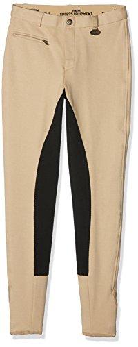 HKM Damen Reithose Stretchy 3/4 Besatz, beige/schwarz, 34, 556790