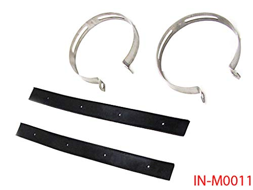 Exhaust Muffler Clamp Bracket with Rubber Kit for GY6 50cc 125cc 150cc Scooter Moped 115mm
