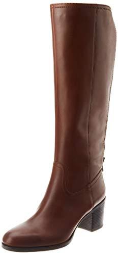 Geox Damen D New ASHEEL D Knee High Boot, Brown, 37 EU