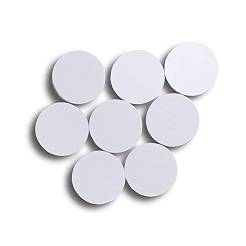 20PCS Blank NTAG 215 NFC Cion Cards,Round 25mm(1 inch) Waterproof PVC NFC Chip Tags,504 Bytes Memory Fully Programmable,Compatible TagMo Amiibo and All NFC Enabled Mobile Phones & Devices