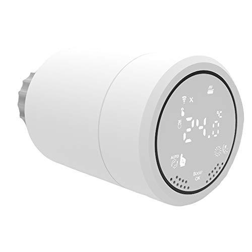 Termostatica Valvola Intelligente Display LCD ZigBee3.0, radiatore Programmabile tramite APP Compatibile con Amazon Alexa, Google Assistant ,Richiesto Hub,Tuya APP