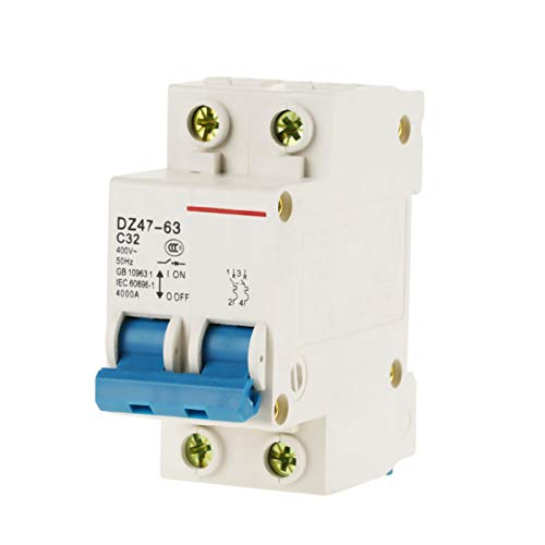LANTRO JS - Disyuntor en miniatura de CC de bajo voltaje 2P 32A 400V Interruptor de aire de protección de disyuntor