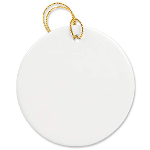 Round Disc Ornament for Sublimation