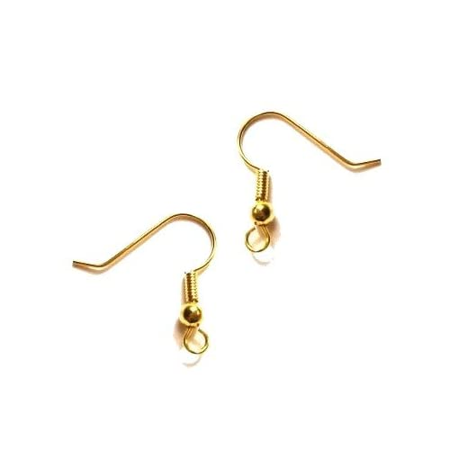 10 Gold Plated Earring Eye Pin Earring Finding Wire 40mm **UK SELLER**