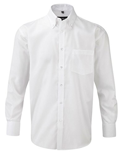 Russell T-shirt à manches longues pour homme - Blanc - 37 cm