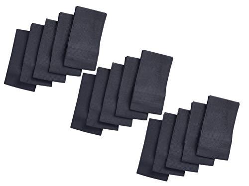 HANTRA 15x Trauerflor - elastische Trauerbinde schwarz universell - Größenverstellbar mit Ultra starkem Klettverschluss - Trauer Armband - Armbinde schwarz