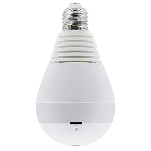 #N/A/a Cámara IP Ocultada Ojo de Pez Panorámico Inalámbrico de La Seguridad de La Cámara de La Bombilla LED de WiFi - Infrarrojo + luz Blanca