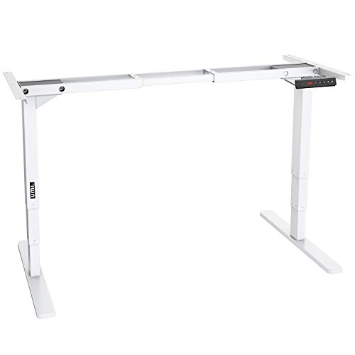 UMI. Essentials Electric Height Adjustable Standing Desk Frame Memory Controller; All-Steel, Dual Motor (White)
