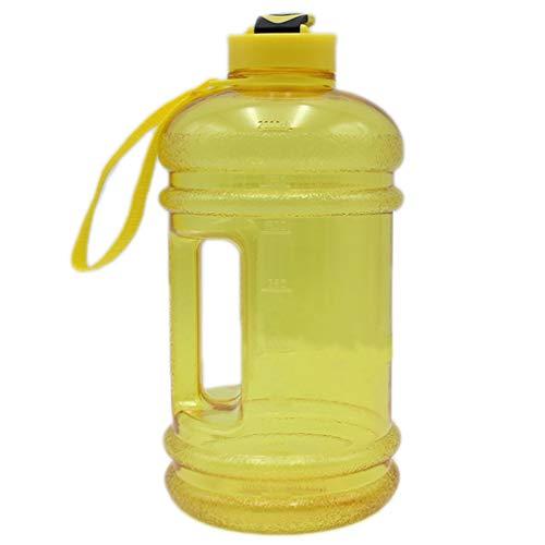 HehiFRlark Botella de Agua Deportiva Recipiente a Prueba de Fugas de Gran Capacidad Plástico sin Bpa Exterior Amarillo