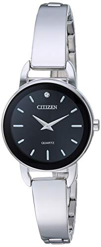 Citizen Women's Quartz Stainless-Steel Strap, Silver, 9.9 Casual Watch (Model: EZ6370-56E)