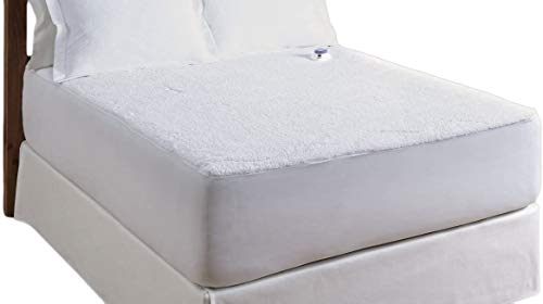 Serta | Luxurious Sherpa Heated Electric Mattress Pad with Safe & Warm Low-Voltage Technology (California King)