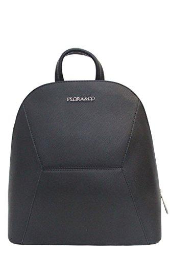 Flora & Co Damen und Mädchen Rucksack Eleganter Daypack Backpack aus hochwertigem Lederimitat