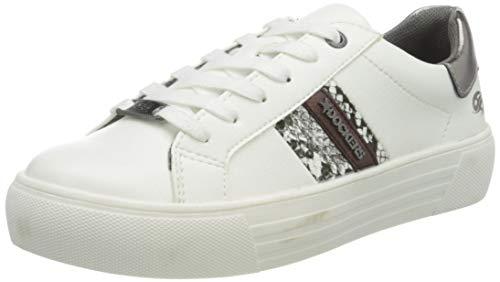 Dockers by Gerli Women's Low-Top Sneakers, Weiß, 8 us