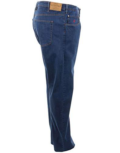 Maxfort Jeans Taglie Forti Uomo Oversize Big Size Plus Size (TG. 60 girovita 120 cm, Blu)