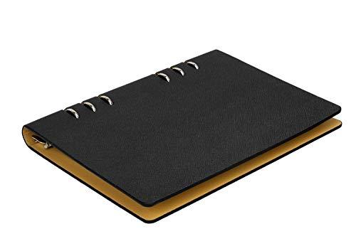 A5 nachfüllbar Notizbuch Clipbook Tagebuch PU Leder Business Notizblöcke Notebook mit Lesezeichen