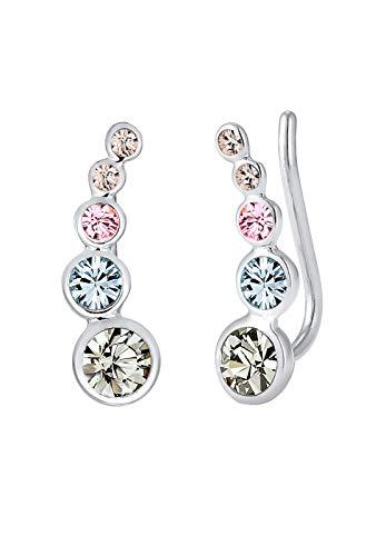 Elli Ohrringe Damen Earclimber Geo Swarovski® Kristalle in 925 Sterling Silber