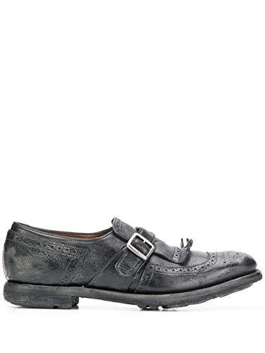 Moda Church's Mujer DO00089PWF0AAB Negro Cuero Zapatos con Correa Monk   Temporada Permanente