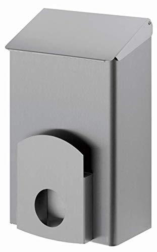 ALLCARE 13049 Dutch Bins AC LBS 7 E Hygiene-Abfallbehälter inkl. Hygienebeutelspender Rostfreier Stahl, 7 L