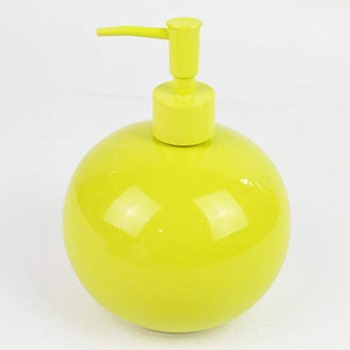 Barato liquido Dosificador Jabón, Ronda Dispensador De Jabón, Amarillo, Naranja Botella De...