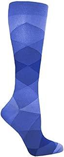 Prestige Medical Premium Compression Socks, Simple Argyle Blue, 2 Count