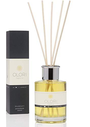 OLORI Reed Raumduft - Jasminblüte - 200 ml - verschiedene Sorten - natürlich, langanhaltend, erfrischend, weich, blumig