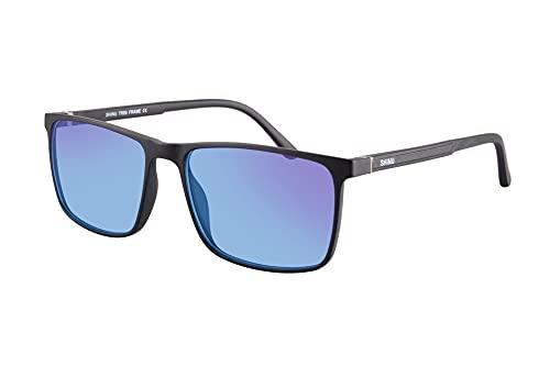 SHINU Gafas para Daltonicos Gafas para Daltonismo Anteojos para Daltonicos para Rojo Verde Uso Tanto en Exteriores Como en Interiores-CB077(C3,matt black)