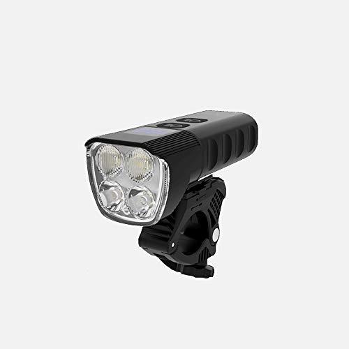Dabeigouztoud linterna frontal, Kit de luz de bicicleta recargable USB, tiempo de funcionamiento Más de 2 horas 1600 Lumens Luminaria Super brillante Faro, 4 Modo de luz Adecuado para todas las bicicl