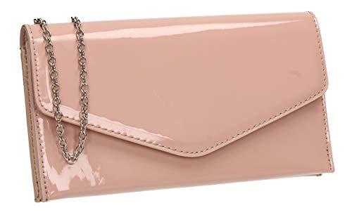 SwankySwansEvieDonnaPochette da giornoRosa (Nude Pink)3x12x24 Centimeters (W x H x L)