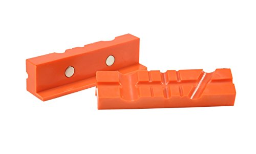 POWERTEC 71106 Magnetic Vise Soft Jaws, 4-1/2 Inch, Non-Marring Pads for Multi-Purpose – 1 Set (2 individual jaws)