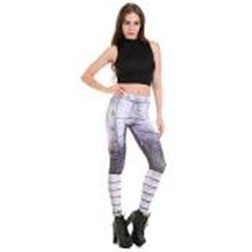 HYHAN Vrouwelijke slanke afslanken yoga broek zweetabsorberende ademende Leggings voor fitness Pant print broek