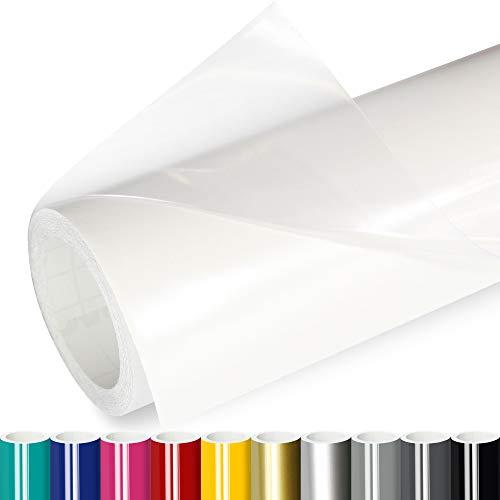 Actinium® Klebefolie 5€/m² Transparent Glanz | 5m x 0,63m selbstklebende Schutz Folie glänzend | Möbelfolie selbstklebend Wandschutzfolie transparente Plotterfolie