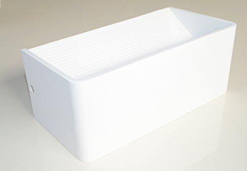 Wandlampe Wandleuchte Wandbeleuchtung Lampe Leuchte Up-Down Weiß Design Strahler Warmweiß Flur Küche Treppenhaus Aluminium Rechteck 9W 3000K für Innen LED YH2