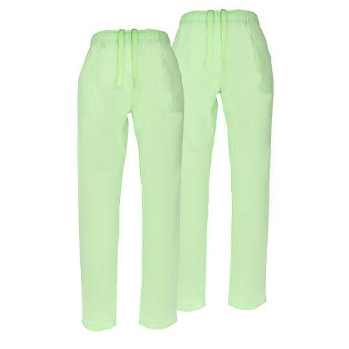 MISEMIYA - Pack*2-Pants Sanitär Unisex Taille Elastic Arbeitskleidung Medical SANIDAD HOSTELERÍA- Ref. 8314 - Medium, Apple Green