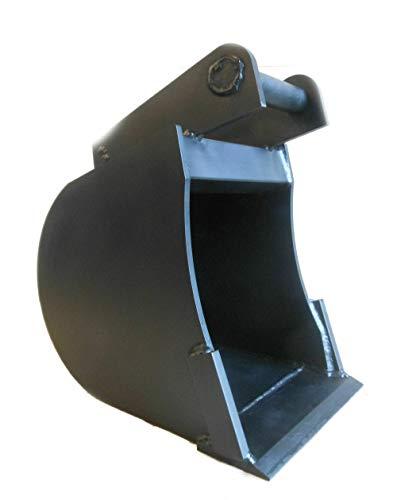Tieflöffel Baggerschaufel Minibagger Bagger Radlader Räum-Schaufel Arbeitsbreite: 20cm / Tiefe: 50 cm/Aufnahme: MS01
