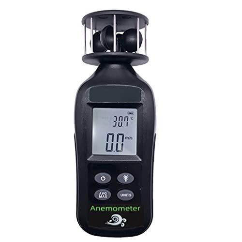 MSEKKO Anemómetro Digital Medidor de Velocidad del Viento de Mano Sensor de medidor de Velocidad de Flujo de Aire Medición de Corriente/Máx. / Volumen de Aire Promedio