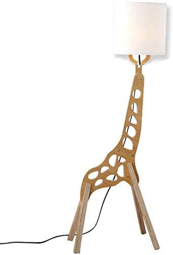 QTWW Lámpara de pie de Jirafa de Dibujos Animados Lámparas de luz de pie Estilo nórdico Moderno Hogar Creativo Madera Original 1.1m Decoración Luz de pie Variedad de Caracteres Formas Ajustables