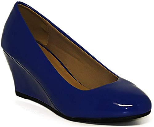 Forever Doris-22 Wedges Pumps-Shoes mve Shoes Doris 22 Blue pat Size 7