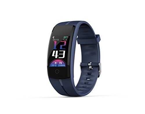 Zeerkeer Orologio da Braccialetto Fitness Tracker Orologio Cardiofrequenzimetro Contapassi Calorie da Polso Sport Promemoria di notifica Smart Watch per Uomo Donna (Blu)