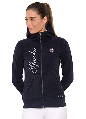 SPOOKS Damen Flisjacke Fleecejacke, leichte Damenjacke mit Kapuze, Herbstjacke - Lesley Fleece Navy M