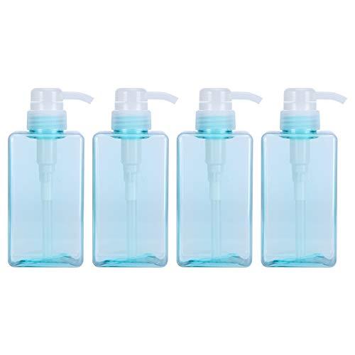 EXID Botella de 4 Piezas Bomba vacía- Bomba de 450 ml Botella Recargable Dispensador de jabón espumoso Botella de loción vacía Envase cosmético